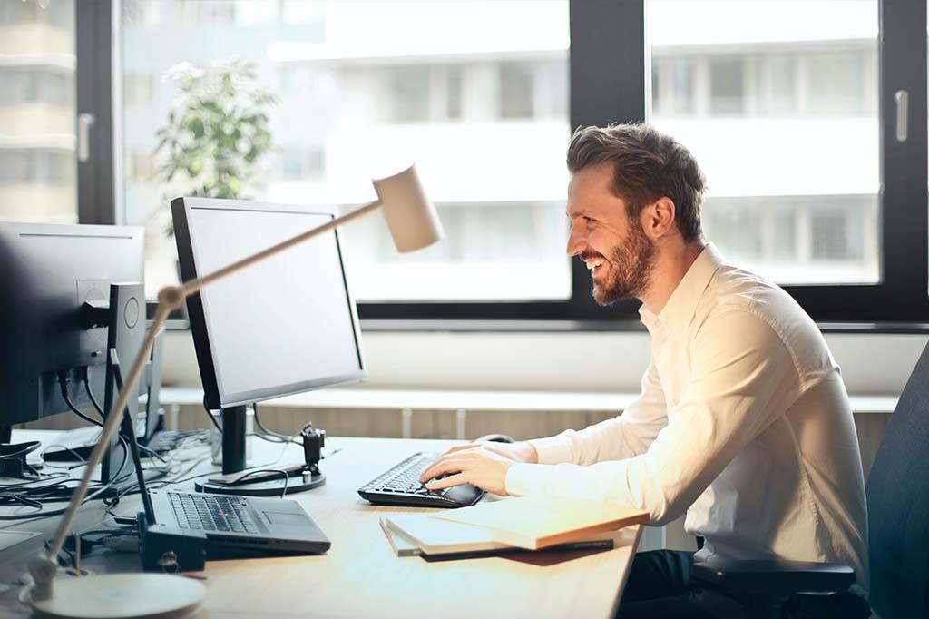 Man at computers