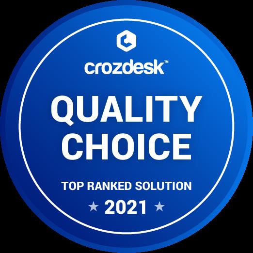 Crozdesk quality choice badge icon