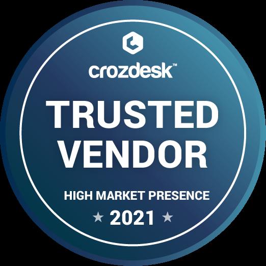 Crozdesk trusted vendor badge icon